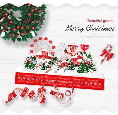3D Christmas Pop-up Card 立體聖誕卡